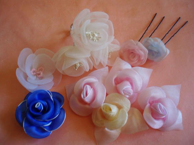 декоративные цветы из ткани фото.